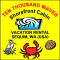10,000 Waves Shorefront Cabin Vacation Rental in Sequim, WA (USA)